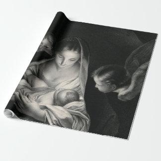 Nativity-Baby-Jesus-Jungfrau-Mary-Engel Geschenkpapier