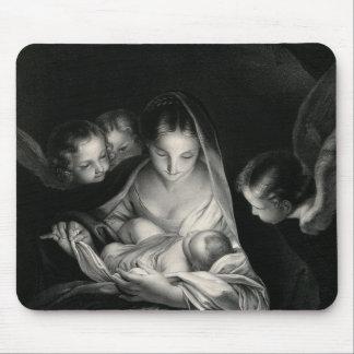 Nativity-Baby-Jesus-Jungfrau-Mary-Engel Mousepad