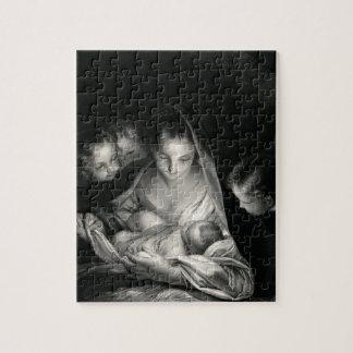 Nativity-Baby-Jesus-Jungfrau-Mary-Engel Puzzle
