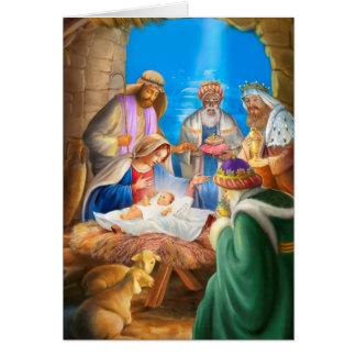 Nativity of Jesus x-mas image for christmas cards Karte