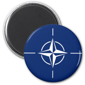 NATO-Flagge Runder Magnet 5,1 Cm