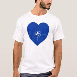 NATO-Flaggen-Herz T-Shirt