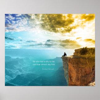 Natur-Abenteuer-Natur Zitat-Friedrich Nietzsche Poster