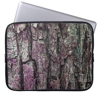Natur-alte Kiefern-Baum-Barke lila Laptopschutzhülle