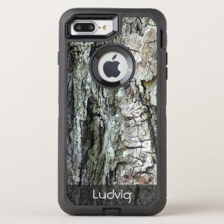 Natur-altes Kiefern-Barken-Foto irgendein Text OtterBox Defender iPhone 8 Plus/7 Plus Hülle