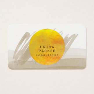 Natur-Aquarell-Mond-Farben-elegantes schickes Visitenkarte