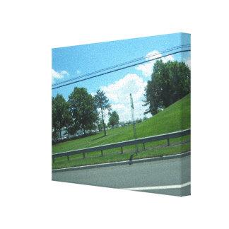 Natur-Baum-Grün SkyView CherryHill NJ USA SPASS 99 Leinwanddruck