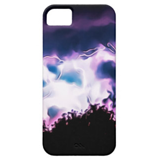 Natur-Beleuchtungs-Bolzen-Wetter-Regen-regnerische iPhone 5 Schutzhüllen