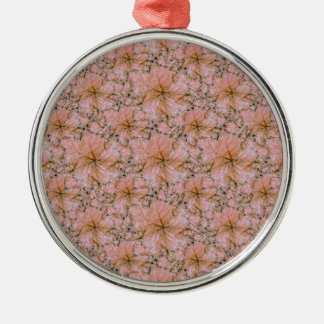 Natur-Collagen-Druck Silbernes Ornament