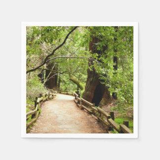 Natur-Fotografie des Muir Holz-Weg-II Serviette