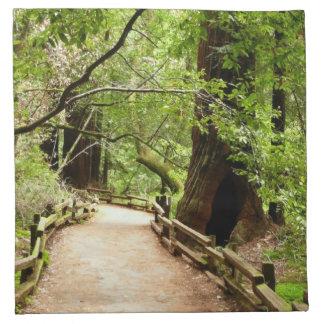 Natur-Fotografie des Muir Holz-Weg-II Stoffserviette