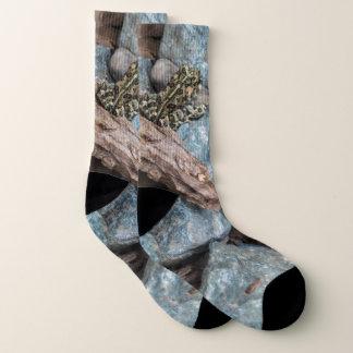 Natur-Fotografie-Frosch-Socken Socken