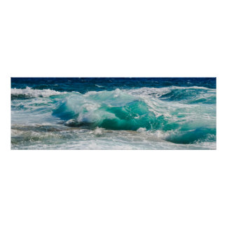 Natur-Fotografie-Strand-Ozean-Gezeiten Poster