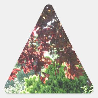 Natur-Garten-Grün-New-Jersey USA NVN671 Dreieckiger Aufkleber