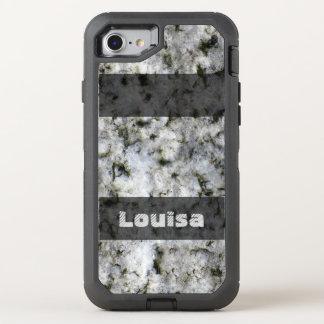 Natur-Geologie-weiße Felsen-Beschaffenheit OtterBox Defender iPhone 8/7 Hülle