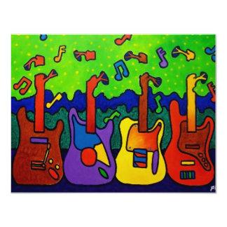 Natur-Gitarren durch Piliero 10,8 X 14 Cm Einladungskarte