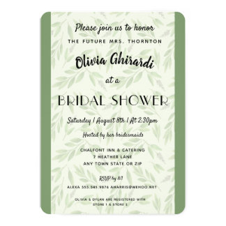 Nature Greenery Modern Bridal Shower Invitation