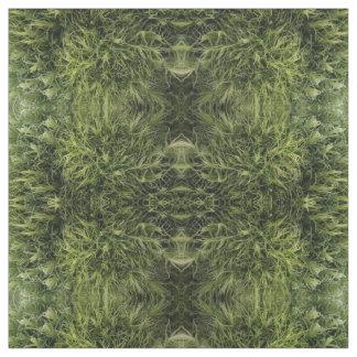 Natur, grünes Flora-Gewebe Stoff