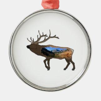 Natur in uns alle silbernes ornament