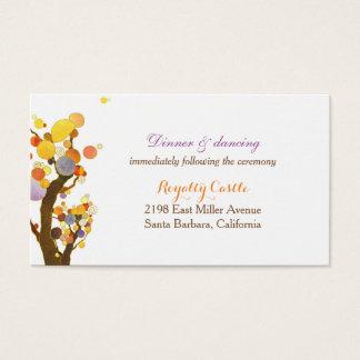 Natur-inspirierte Hochzeits-Empfangs-Einschließung Visitenkarte