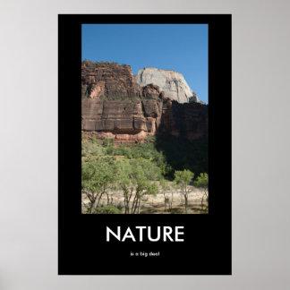 Natur ist ein große Sache Demotivational Plakat