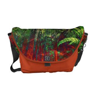 Natur jungel Waldgrün-Mandarine Bote-Tasche Kuriertaschen