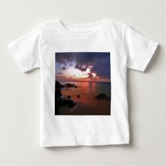 Natur-Küsten-Kastanienbraun-Wasser Baby T-shirt