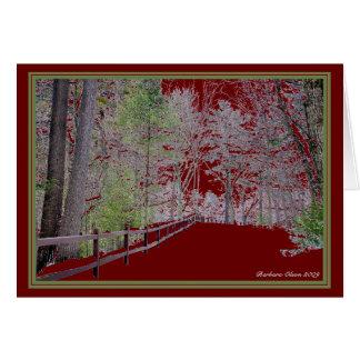 *** Natur: Leben jede Jahreszeit: Walden Teich Grußkarte