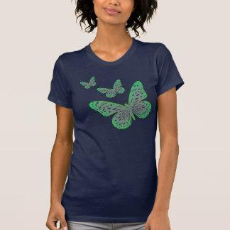 Natur-Liebhaber-blaues Grün-Garten-Schmetterling Shirts
