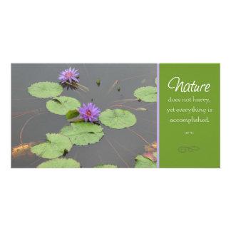 Natur Lilly Hülsen-Fotokarte Karte