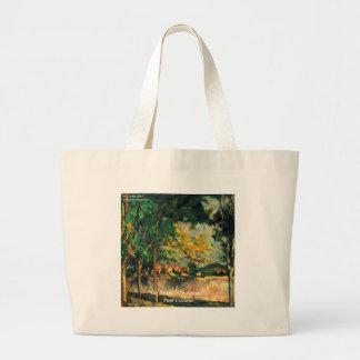 Natur-Malerei u. Zitat Pauls Cezanne Jumbo Stoffbeutel