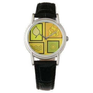 Natur quadriert Mode-Uhr durch Julie Everhart Armbanduhr