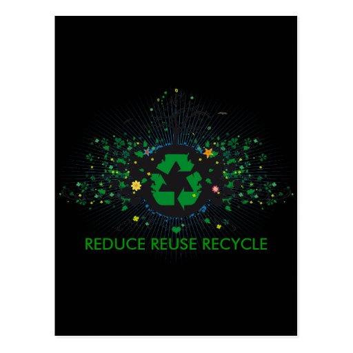 Natur recycelt postkarte