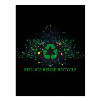 Natur recycelt postkarten