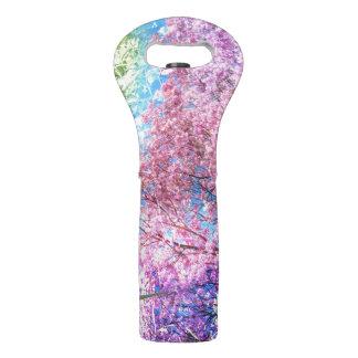 Natur-rosa Blumen-Kunst-Collagen-Grafiken Weintasche
