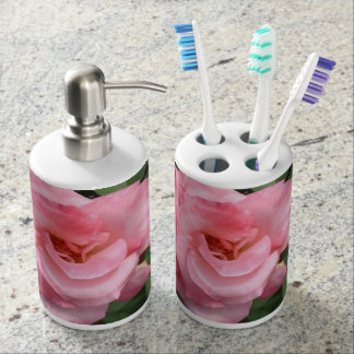 Natur-rosa Rosen-Blüten-Bad-Set Badset