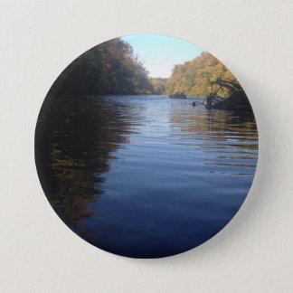 Natur Runder Button 7,6 Cm