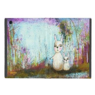Natur-Schul-, Mutter-und Baby-Kaninchen-abstrakte iPad Mini Schutzhülle