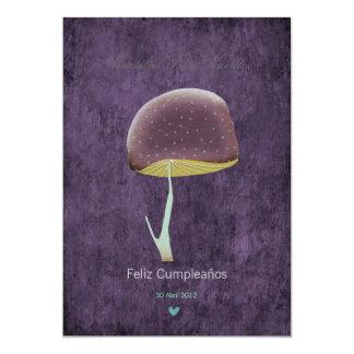 Natur-Sommer-Party des Pilzes wunderliches 12,7 X 17,8 Cm Einladungskarte