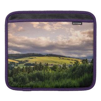 Natur-Sonnenuntergang-Hügel-Landschaft in Polen Sleeve Für iPads