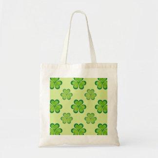 Natur-stilvolles grünes glückliches budget stoffbeutel