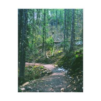 Natur-Weg-Wand-Leinwand Leinwanddruck