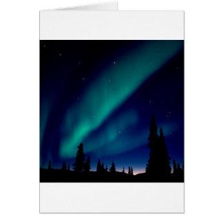 Natur zwingt Aurora Borealis Alaska Karte