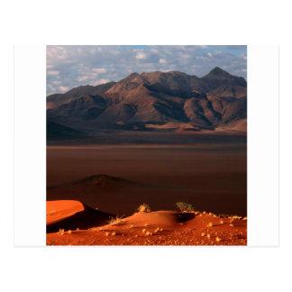 Natur zwingt Dämmerungs-Namibische Wüste Namibia Postkarte