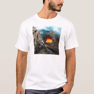 Natur zwingt Kilauea Hawaii Vulkane T-Shirt
