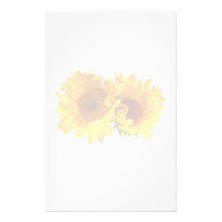 Natürlich blonde Sonnenblumen Briefpapier