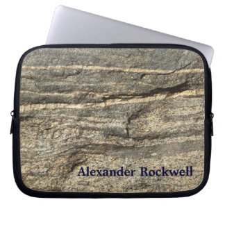 Natürlich cooles Surfaces_Granite Laptop Sleeve
