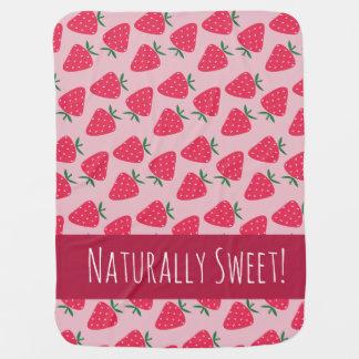 Natürlich süße ErdbeerBabydecke Puckdecke