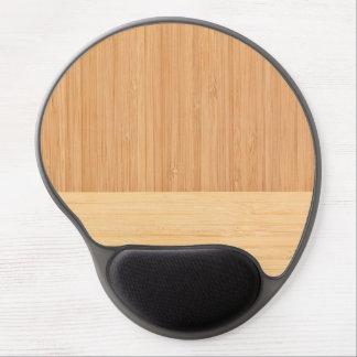 Natürliche Bambusgrenzhölzerner Korn-Blick Gel Mousepad