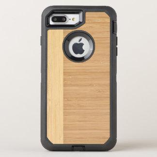 Natürliche Bambusgrenzhölzerner Korn-Blick OtterBox Defender iPhone 8 Plus/7 Plus Hülle